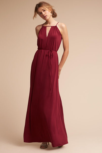 twobirds Burgundy Charlie Dress | BHLDN