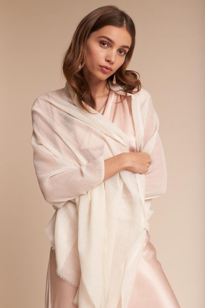 BHLDN Ivory Rue Pashmina Wrap | BHLDN