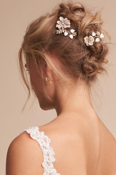 Twigs & Honey Gold Ortensia Hair Pin | BHLDN