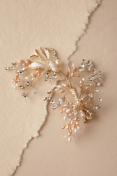 Gold Veridian Hair Clip | BHLDN