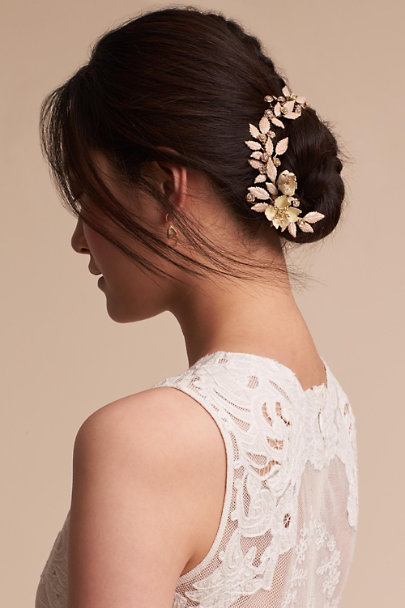 Paris by Debra Moreland Gold Sylvana Headpiece | BHLDN