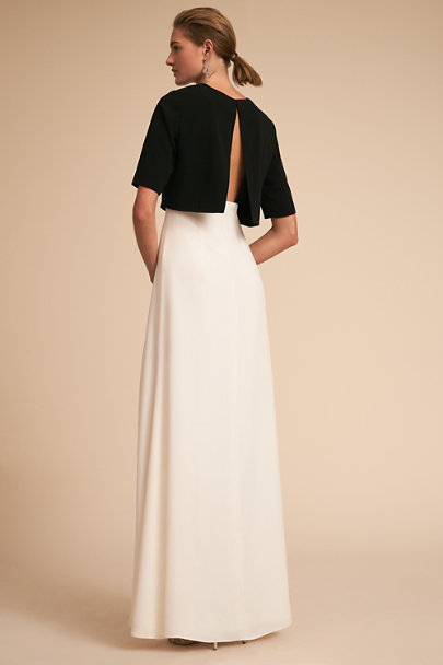 Jill Jill Stuart Black/Ivory Lucille Dress | BHLDN