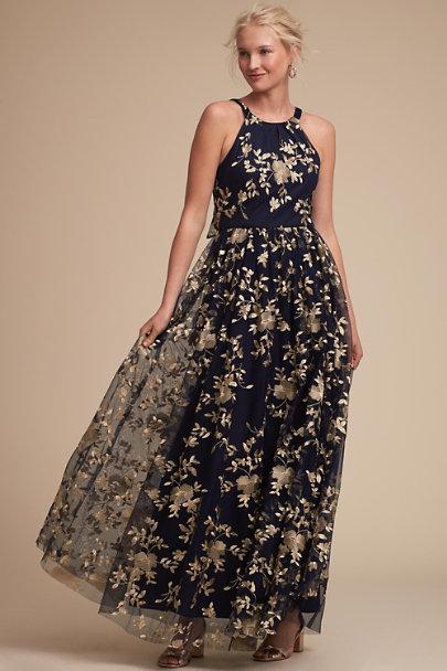 0ed60a9a3f BHLDN Navy Gold Antonia Dress