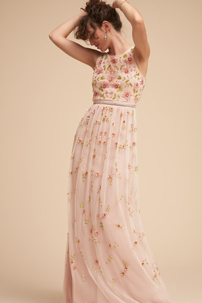 Adrianna Papell Rose Melody Dress | BHLDN