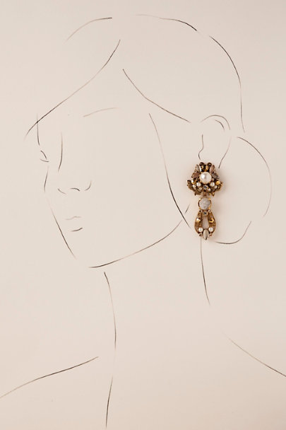 Erickson Beamon Gold Kamelia Chandelier Earrings | BHLDN