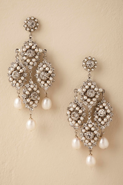 Ti Adoro Silver Lionetta Chandelier Earrings  | BHLDN