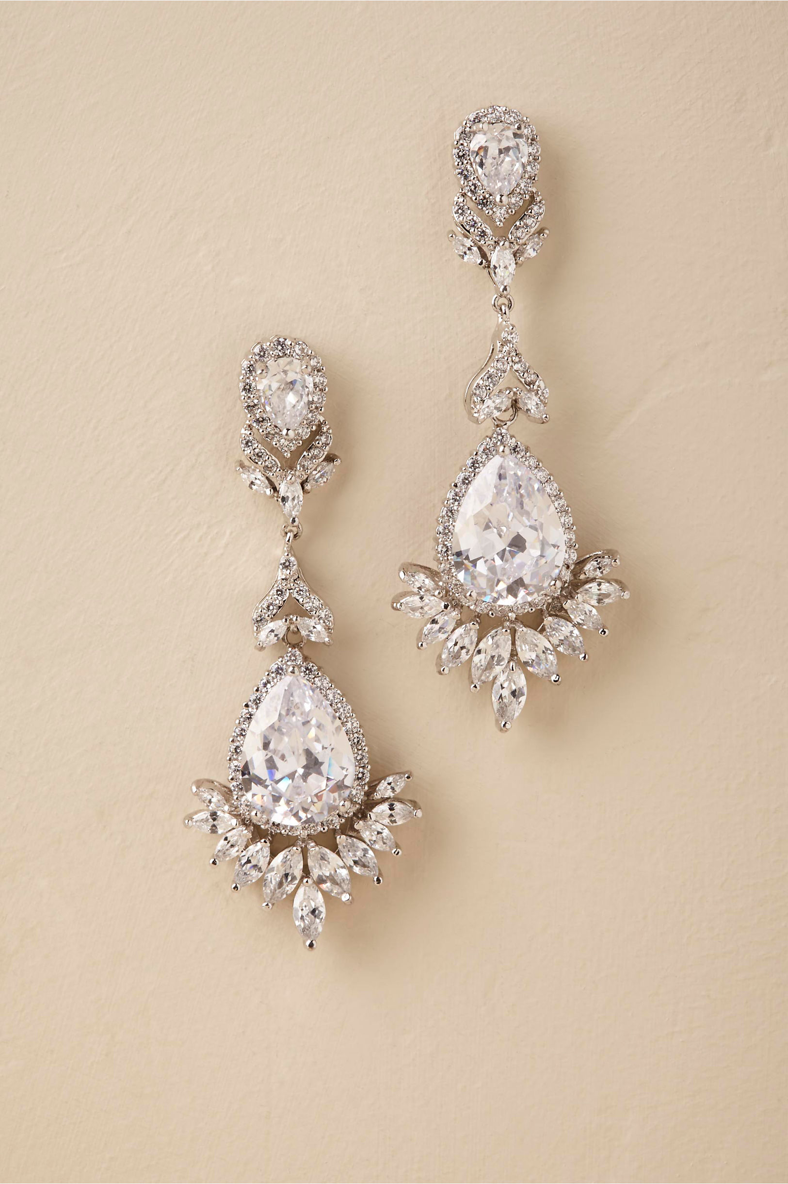 Silver Daniela Chandelier Earrings Bhldn