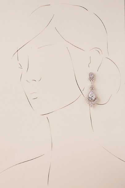 Margaret Rowe Silver Daniela Chandelier Earrings | BHLDN