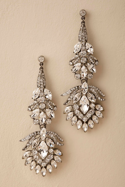 Ben-Amun Silver Vizcaya Chandelier Earrings | BHLDN