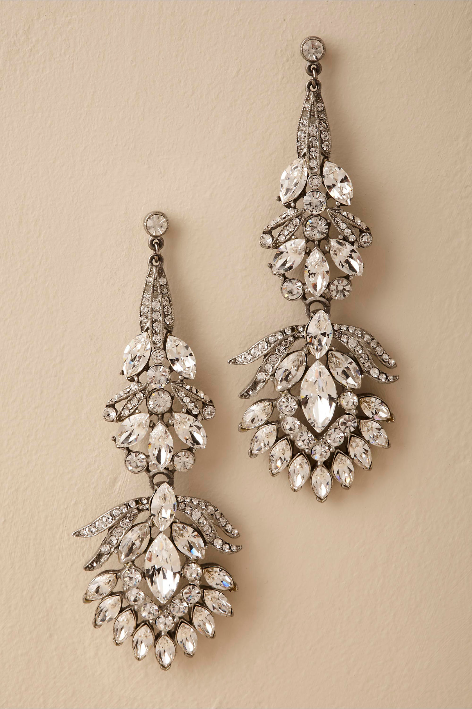 Silver Vizcaya Chandelier Earrings Bhldn