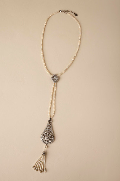 Ben-Amun Silver Albee Necklace  | BHLDN