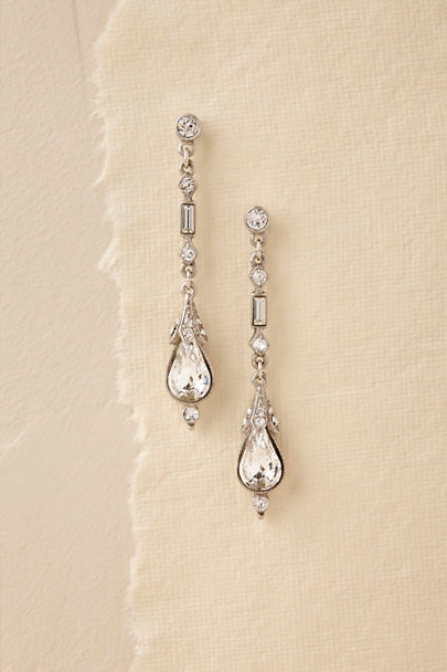 Ben-Amun Silver Alix Drop Earrings | BHLDN