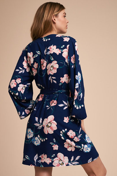 Yumi Kim Navy Yumi Kim Morning Light Floral Robe | BHLDN
