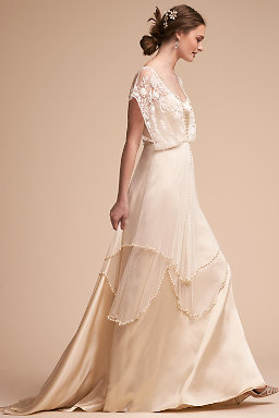 Long sleeve wedding dresses long cap sleeve bhldn lita gown lita gown junglespirit Gallery
