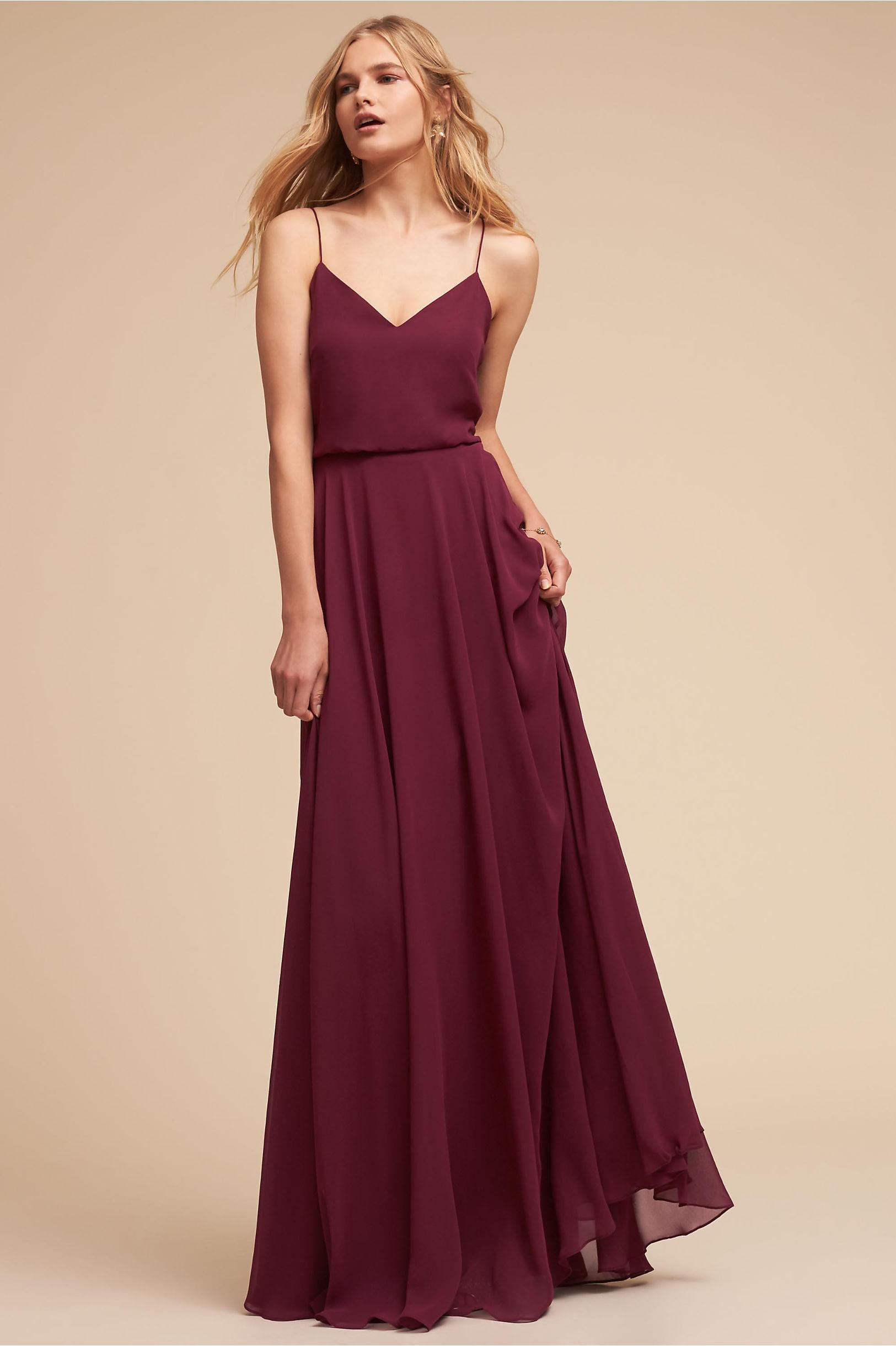 e2c42d1914f8 Jenny Yoo Black Cherry Inesse Dress | BHLDN