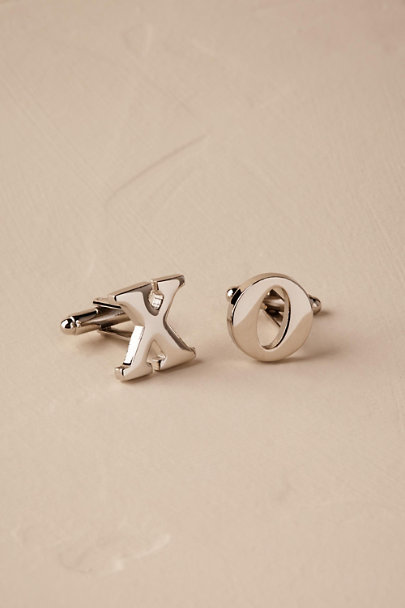 Ox & Bull Trading Co. Silver Love Letter Cufflinks | BHLDN
