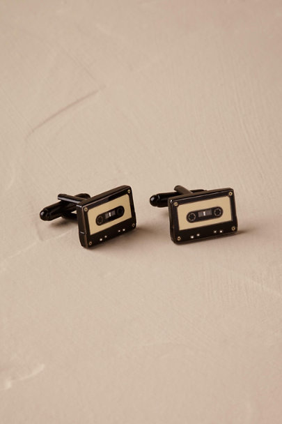 Ox & Bull Trading Co. Black Mixtape Cufflinks | BHLDN