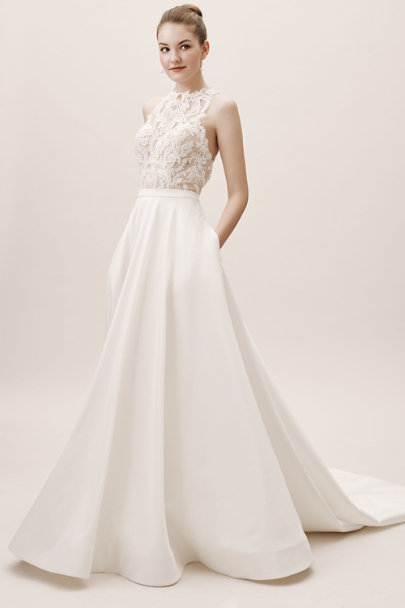 Marissa skirt ivory in bride bhldn for Wedding dress skirt and top