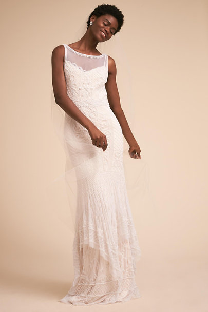 Theia Bridal Ivory Abby Gown | BHLDN