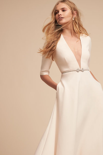 Silver Eleonora Fitted Belt | BHLDN