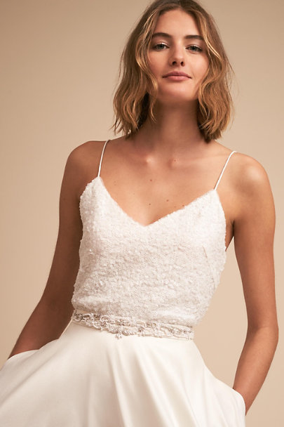 Jenny Yoo Ivory Sylvie Top | BHLDN