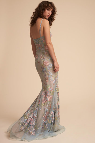 Marchesa Notte Light Blue Cannes Dress | BHLDN