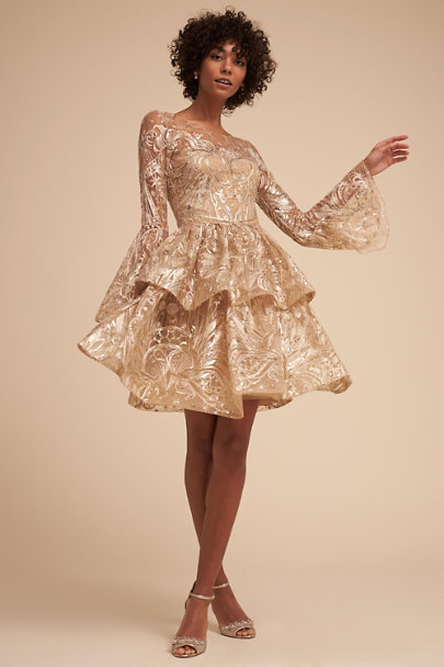 db2a3dc4 Marchesa Notte Champagne Rebel Dress | BHLDN ...