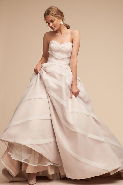 Whispers & Echoes Ivory Carlton Ballgown | BHLDN