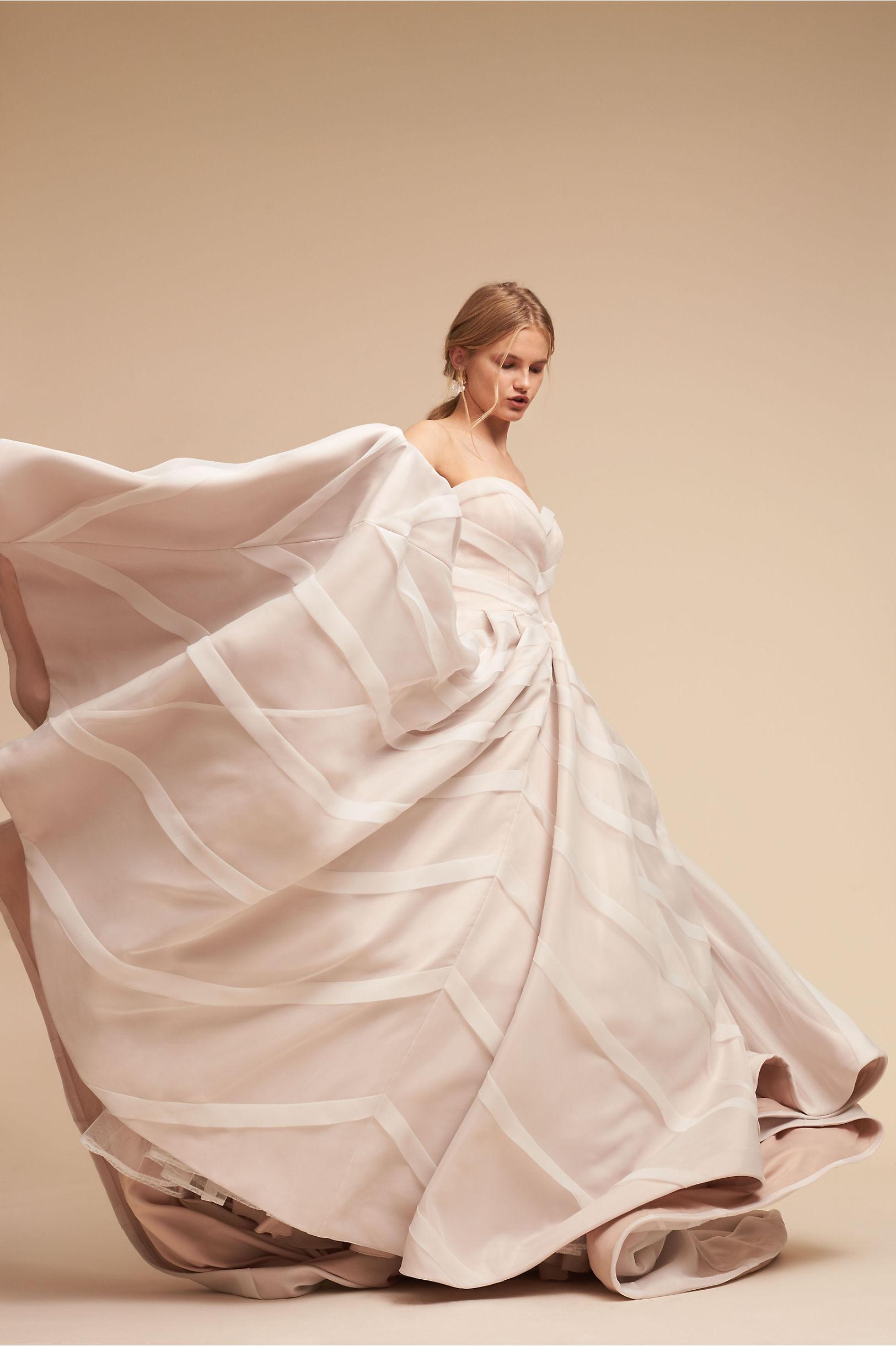 Carlton Ballgown Ivory in Sale | BHLDN
