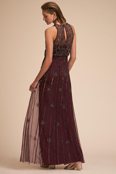 BHLDN Bordeaux Amada Dress | BHLDN
