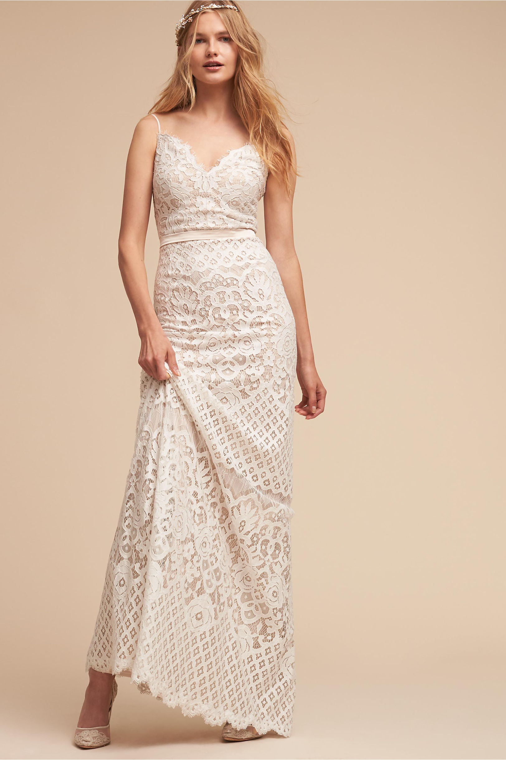 Evenson Gown Ivory in Sale | BHLDN