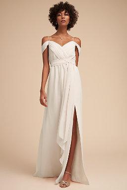 Ivory Cream Champagne Bridesmaid Dresses