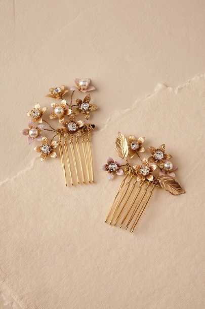 Ti Adoro Gold Abbington Hair Combs (2) | BHLDN