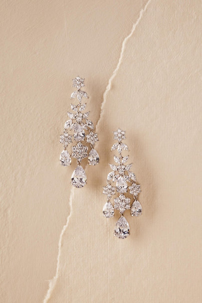 Silver Rana Chandelier Earrings | BHLDN