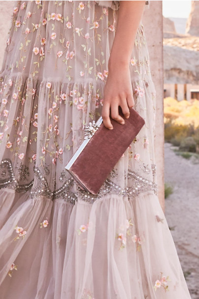 Adrianna Papell Blush Leira Clutch | BHLDN