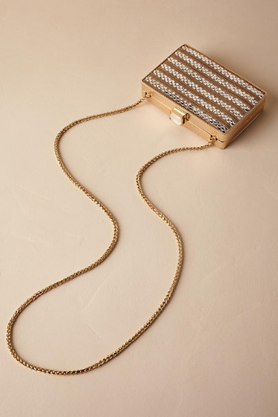 Adrianna Papell Gold Veronica Box Clutch | BHLDN