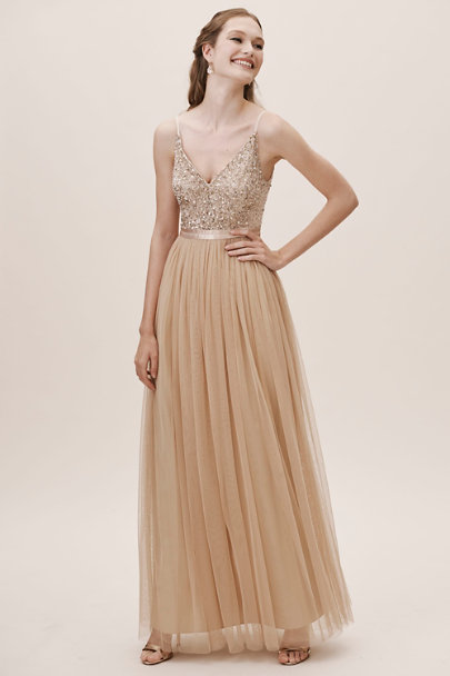 Avery dress blush in occasion dresses bhldn for Anthropologie beholden wedding dress
