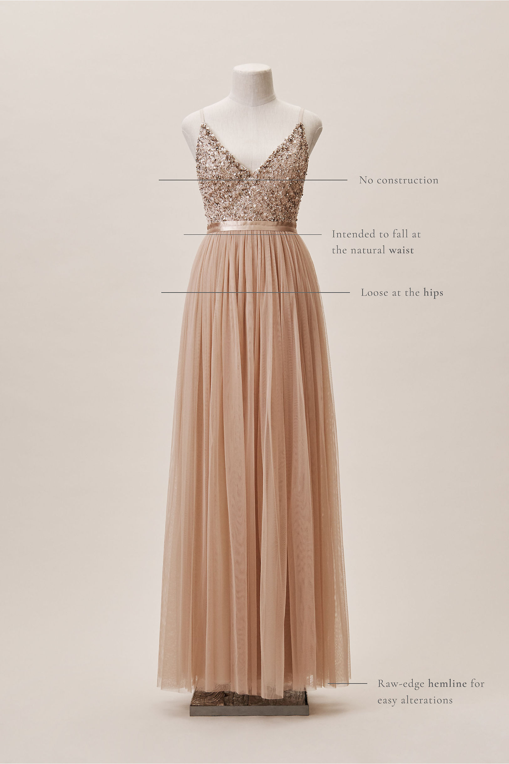 1531d470bbdfb Avery Dress Fog in Bridesmaids & Bridal Party | BHLDN
