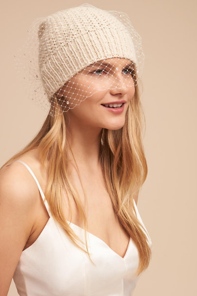 Jennifer Behr Ivory Veiled Beanie | BHLDN