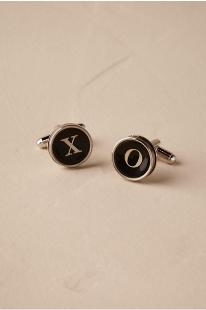 Silver Typewriter Key Cufflinks | BHLDN