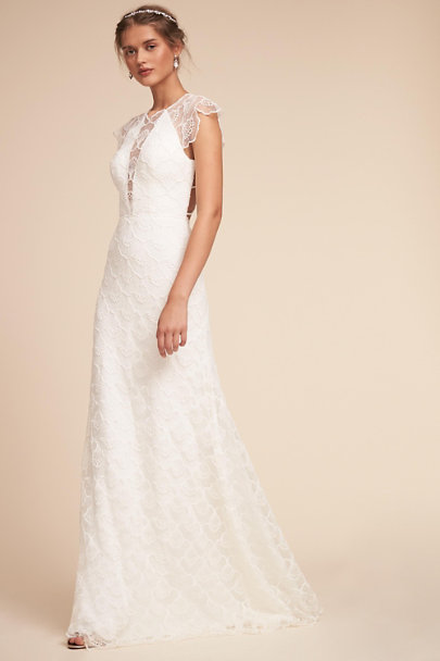Divine Atelier Ivory Cara Gown | BHLDN