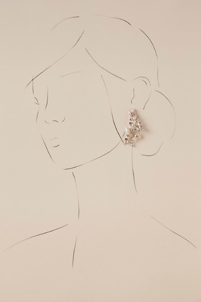 Justin & Taylor Silver Astera Earrings | BHLDN