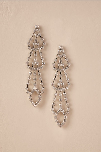 Silver Cantrell Chandelier Earrings | BHLDN