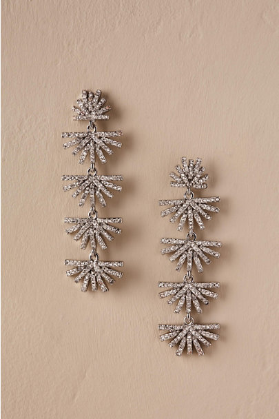 Lele Sadoughi Silver Karlyn Chandelier Earrings | BHLDN