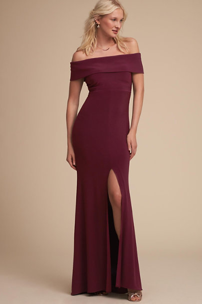 BHLDN Wine Ember Dress | BHLDN