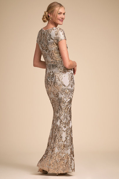 BHLDN Gold/Fog Cosmopolitan Dress | BHLDN