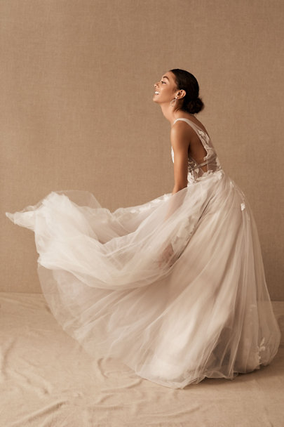 Willowby by Watters Silver Hearst Gown | BHLDN