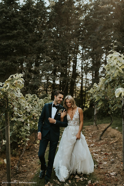 Watters Silver Hearst Gown | BHLDN