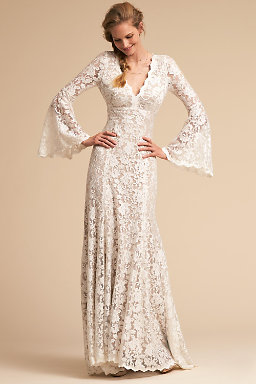 Long sleeve wedding dresses long cap sleeve bhldn lucca gown lucca gown junglespirit Images