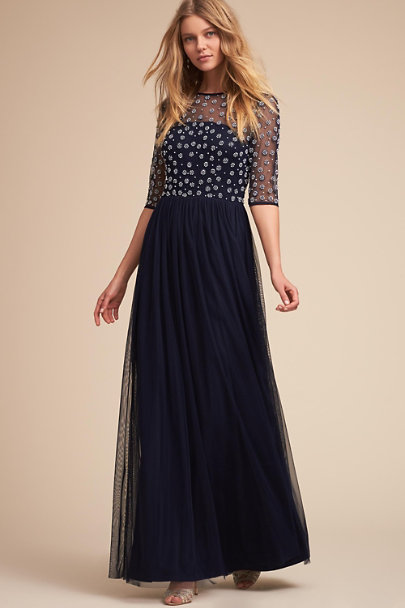 Motee Maids Navy Rowan Dress | BHLDN
